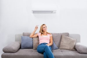 homeowner-enjoys-comfort-of-ductless-mini-split-system