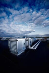 commercia-HVAC-unit-cloudy-sky